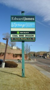 Refaced illuminated freestanding sign for Springs Integrated Health Colorado Springs