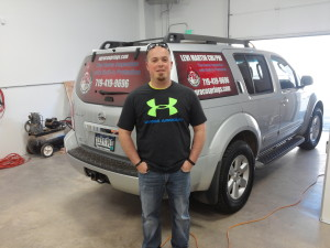Levi Martin A-Pro Home Inspections new vehicle window graphics
