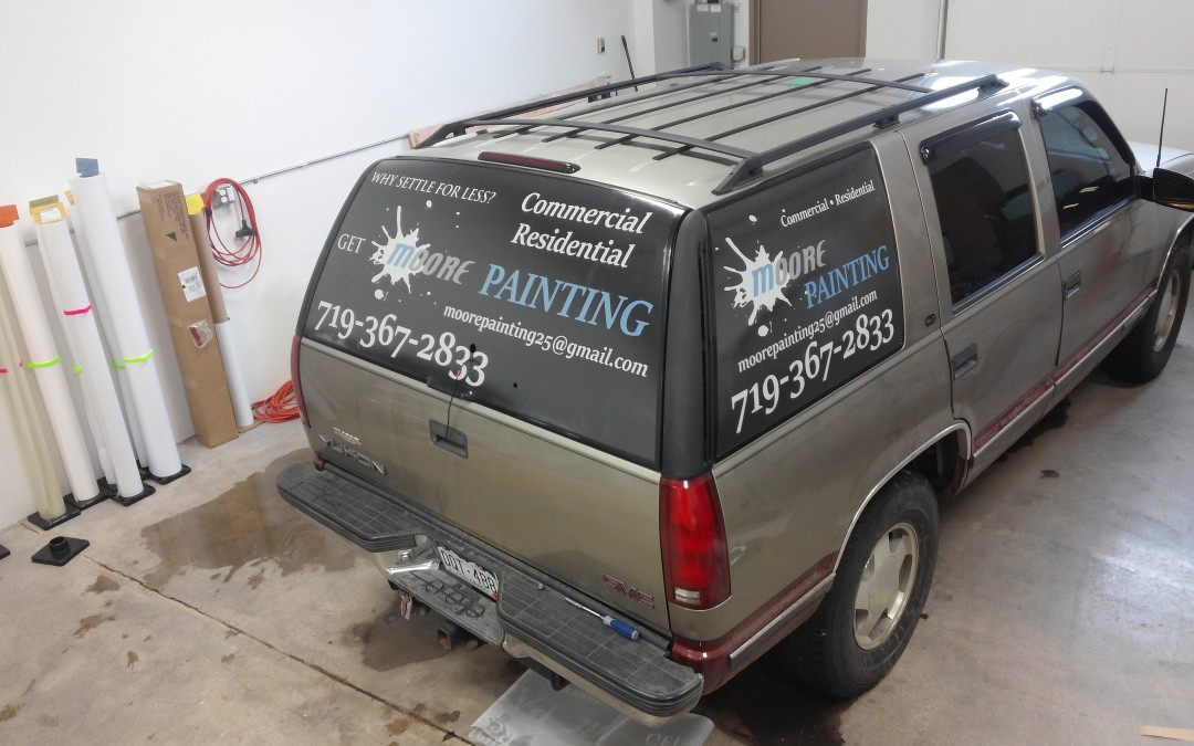 Vehicle Window Graphics Colorado Springs CO for Moore Painting