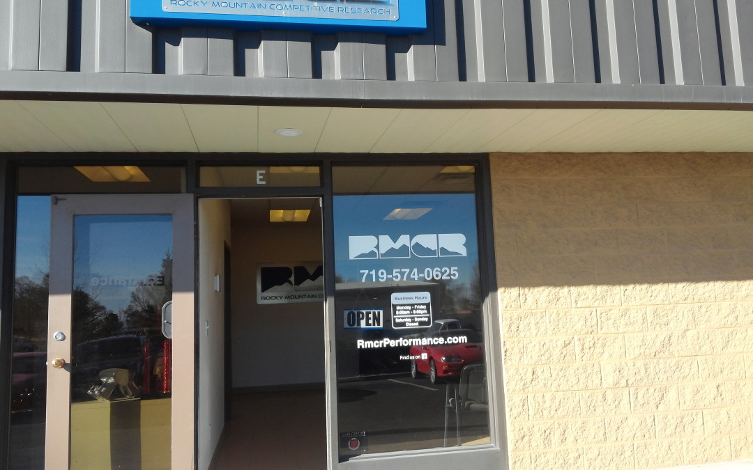 Decals and window graphics Colorado Springs CO for Rocky Mountain Competitive Research (RMCR)