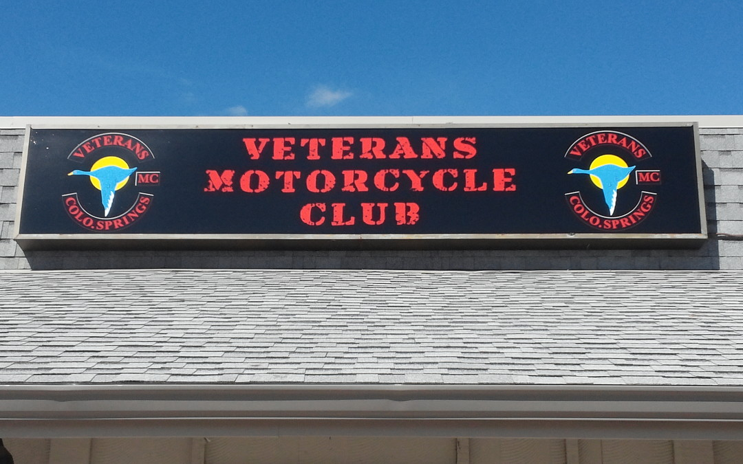 Illuminated Sign Colorado Springs for Veterans Motorcycle Club