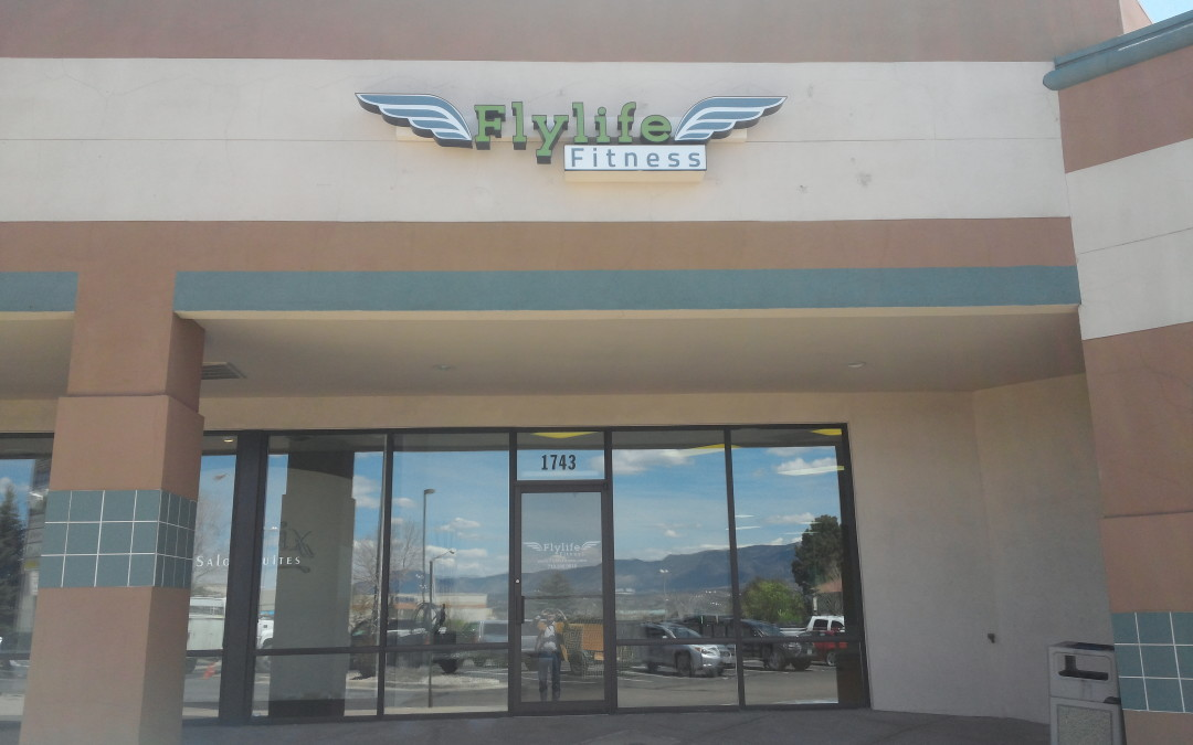Colorado Springs CO – Channel Letter Wall Sign Flylife Fitness