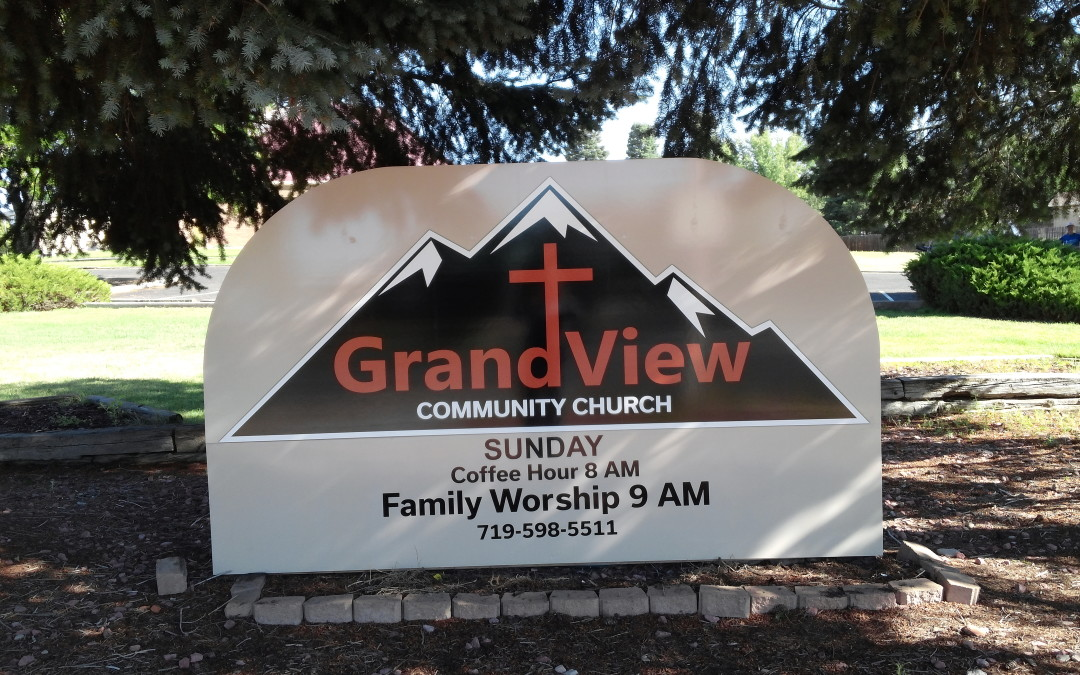 Colorado Springs CO – Post and Panel Signs – Grandview Church and Academy Insulation and Gutter