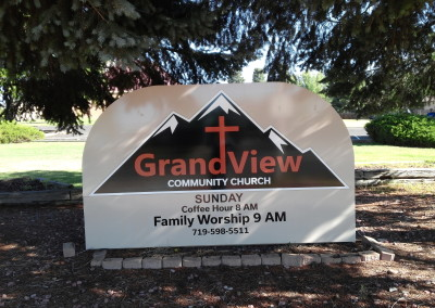 Grandview Church Monument Sign