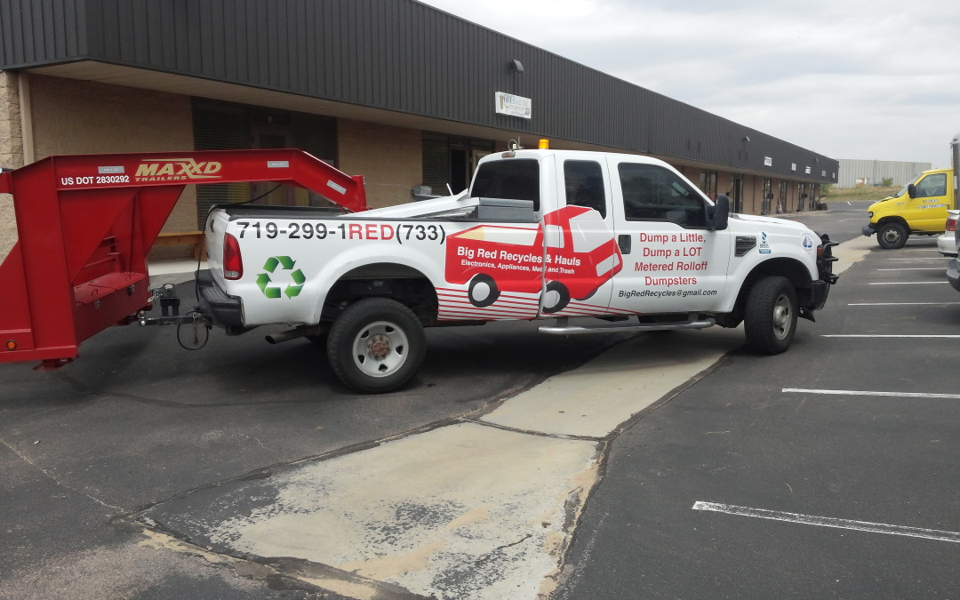 Colorado Springs CO – Vehicle and Trailer Graphics – Big Red Recycling