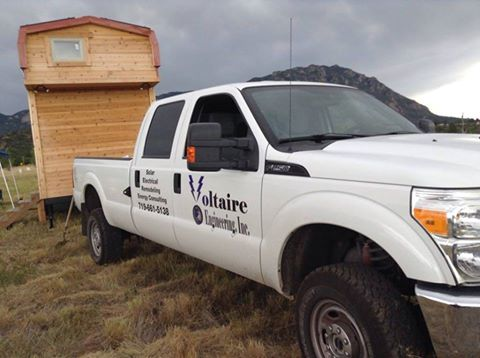 Colorado Springs CO – Custom Vehicle Graphics – Voltaire Engineering and Schooner Homes