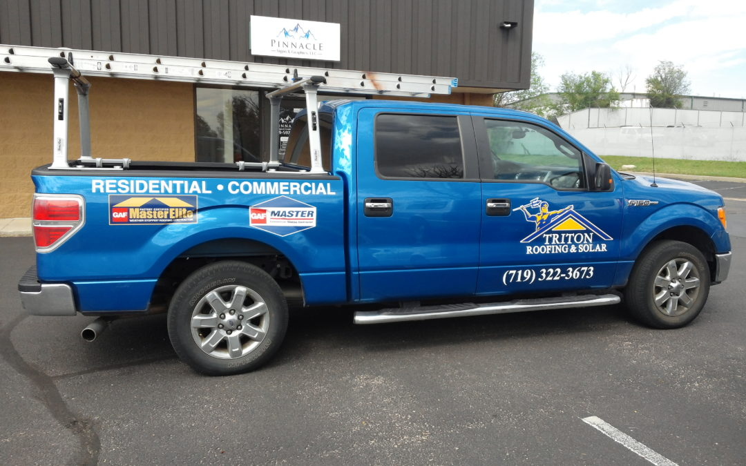 Custom Vehicle Graphics – Colorado Springs, CO – Triton Roofing and Solar