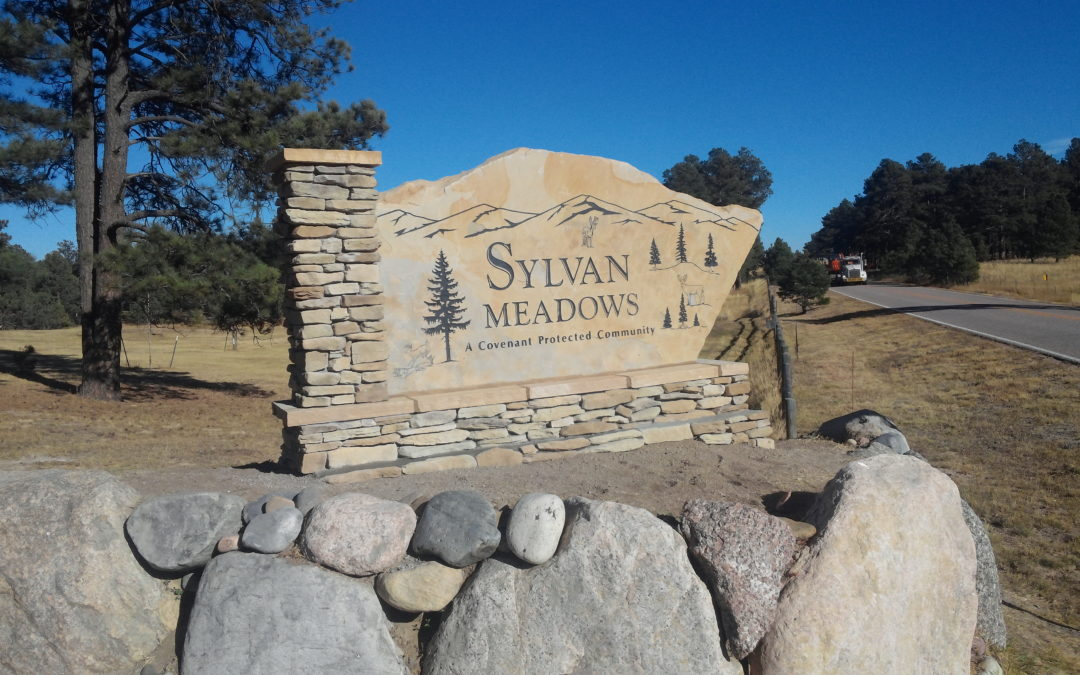 Monument Sign  – Colorado Springs CO – Sylvan Meadows Subdivision