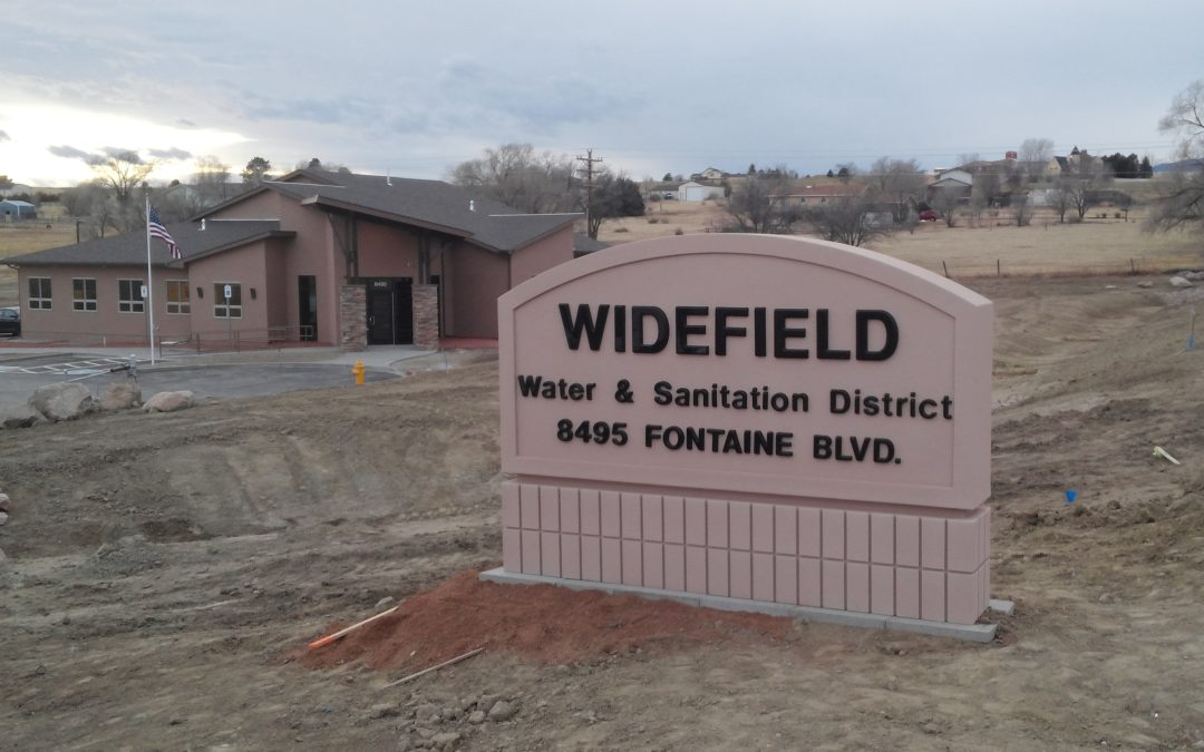 Monument Sign – Widefield CO – Widefield Water & Sanitation
