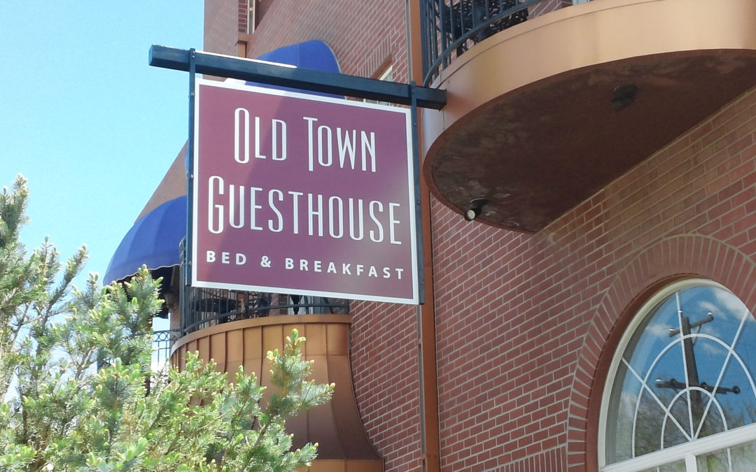 Hanging and Wall Sign – Colorado Springs – Old Town Guesthouse