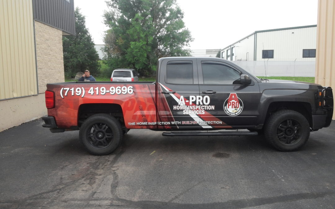 Custom Truck Graphics – Colorado Springs CO – A-Pro Home Inspections