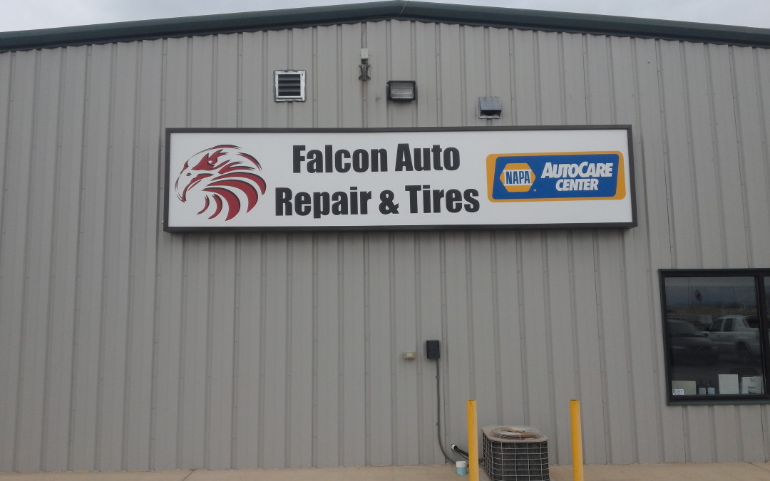 Falcon Co Custom Illuminated Sign Falcon Auto Repair And