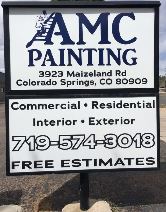 Commercial Illuminated Sign Colorado Springs Amc Painting